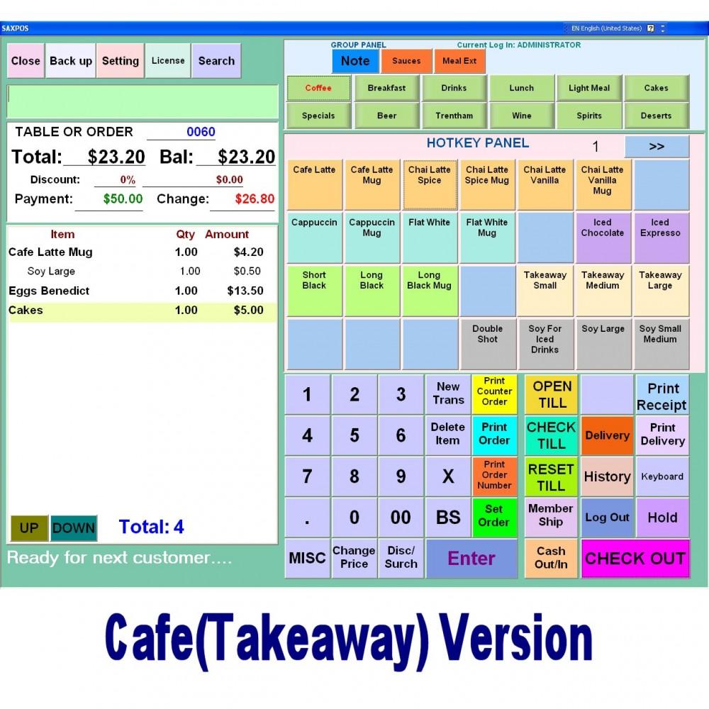 Saxpos Cafe Software